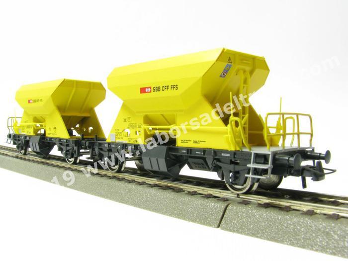 ROCO 76154 Wagenset Ballast carrello delle SBB con Schott patrimonio carico-NUOVO /& OVP